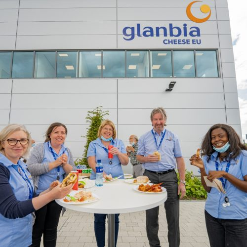 Glanbia Cheese EU team members eating BBQ items