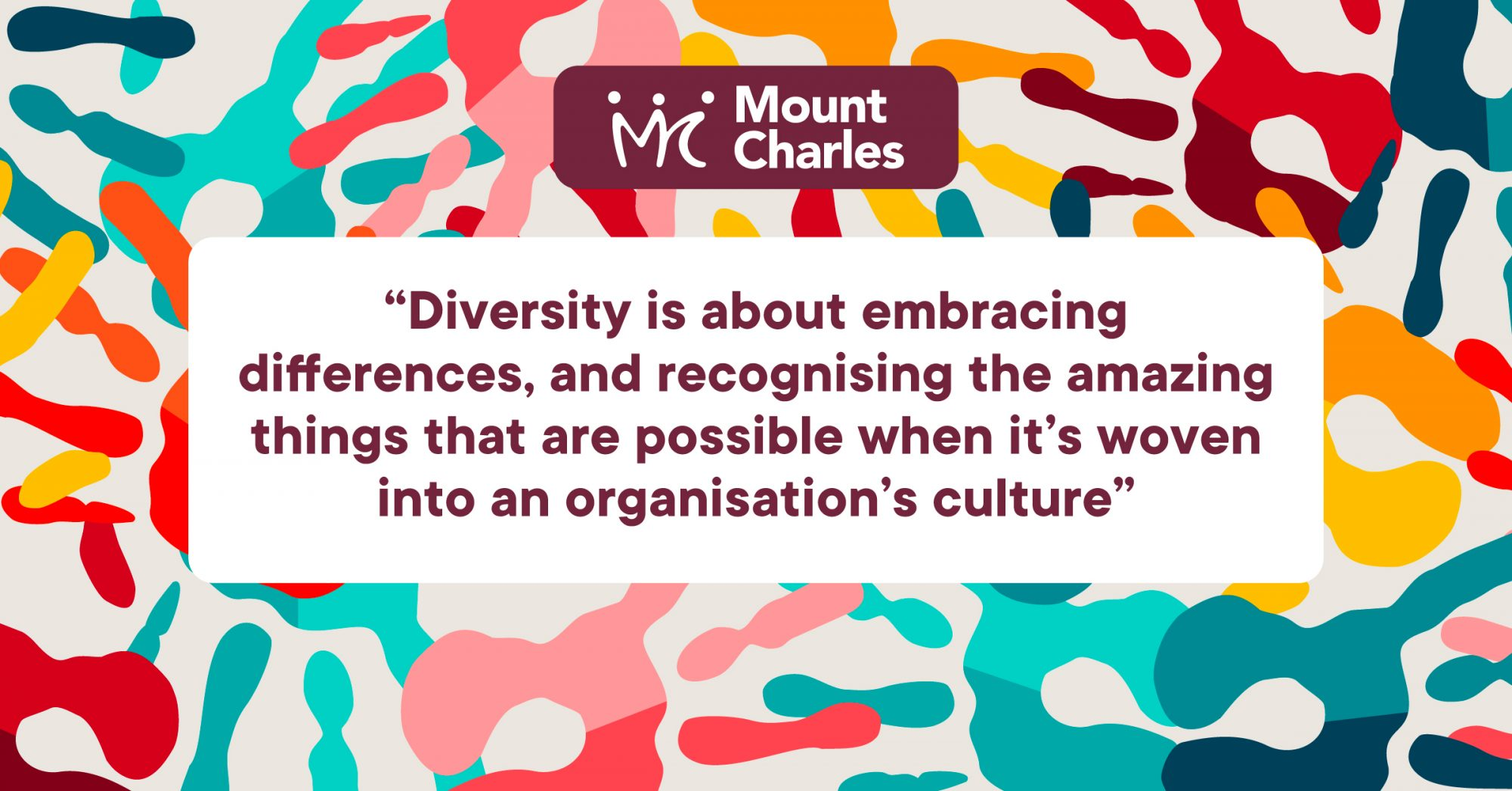 bright colourful collection of hand prints to emphasise diversity at Mount Charles